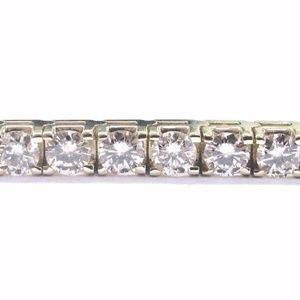 Jewelry - Fine 14Kt Round Cut Diamond Tennis 4-Prong Yellow
